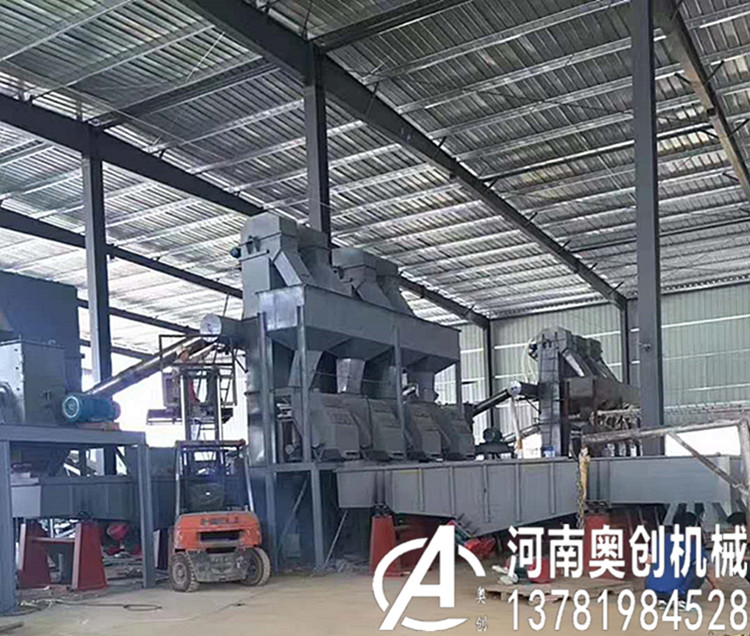 石英砂筛分生产线Quartz sand screening production line